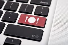 Orden en línea del alimento Foto de archivo libre de regalías