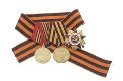 Orden soviética de la gran guerra patriótica Imagenes de archivo