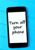 Orden vänder av din telefon royaltyfri fotografi