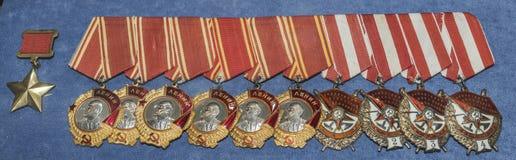 Orden van de Sovjetunie in het Centrale Museum van bewapend Royalty-vrije Stock Afbeelding