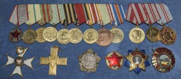 Orden van de Sovjetunie in het Centrale Museum van bewapend Royalty-vrije Stock Fotografie