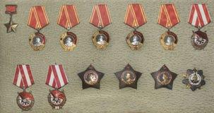 Orden van de Sovjetunie in het Centrale Museum van bewapend Stock Afbeelding