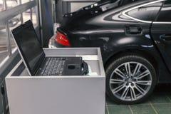 Ordenador auto del diagnóstico del coche fotos de archivo