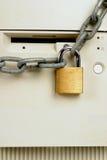 Ordenador bloqueado para arriba Fotografía de archivo