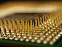 Ordenador Chip Pins Fotos de archivo
