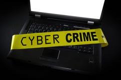Ordenador cibernético del crimen imágenes de archivo libres de regalías