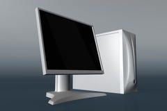 Ordenador con el monitor 01 del LCD Foto de archivo libre de regalías