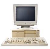 Ordenador, CPU del teclado y monitor viejos Fotos de archivo