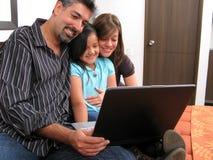 Ordenador de la familia Imagen de archivo libre de regalías