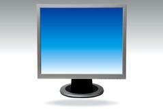 Ordenador de la pantalla plana Fotos de archivo libres de regalías