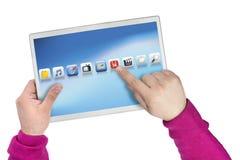 Ordenador de la pantalla táctil Fotografía de archivo libre de regalías