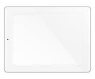 Ordenador de la PC de la tableta aislado en el fondo blanco Imagen de archivo