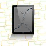 Ordenador de la tablilla y teléfono móvil Imagen de archivo libre de regalías