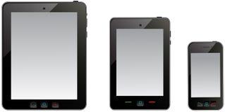 Ordenador de la tablilla y teléfono móvil Imagen de archivo
