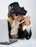 Ordenador de Pirat Imagen de archivo libre de regalías