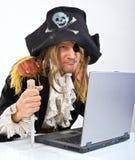 Ordenador de Pirat Imagenes de archivo