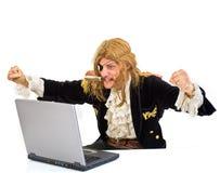 Ordenador de Pirat Fotografía de archivo