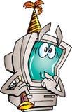 Ordenador del Año Nuevo Imagen de archivo libre de regalías