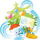 Ordenador del Año Nuevo Fotos de archivo libres de regalías