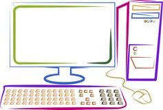 Ordenador del arte ilustración del vector