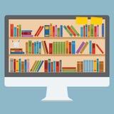 Ordenador del estante de librería Imagen de archivo