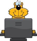 Ordenador del gato Fotos de archivo libres de regalías