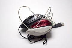 Ordenador del juego del ratón Foto de archivo libre de regalías