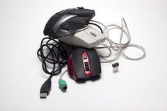 Ordenador del juego del ratón Fotos de archivo