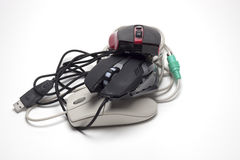 Ordenador del juego del ratón Fotografía de archivo