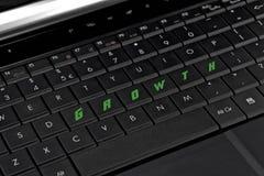 Ordenador del teclado del crecimiento Foto de archivo