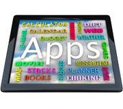 Ordenador del vector - palabras de Apps para las aplicaciones stock de ilustración