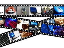 Ordenador Filmstrips Imagenes de archivo