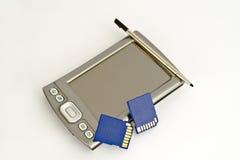 Ordenador Handheld con las RAM del sd Imágenes de archivo libres de regalías