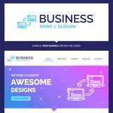 Ordenador hermoso de la marca del concepto del negocio, conexión, vínculo stock de ilustración