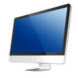 Ordenador liso de la PC del monitor TODO JUNTO Foto de archivo