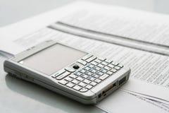 Ordenador móvil (organizador) Imagen de archivo libre de regalías