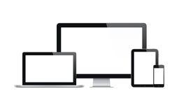 Ordenador moderno y dispositivos móviles Foto de archivo