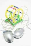 Ordenador Mouses Fotografía de archivo