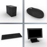 Ordenador negro Imagen de archivo libre de regalías