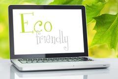 Ordenador portátil amistoso de Eco imagen de archivo libre de regalías