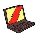 ordenador portátil cómico de la historieta Imagen de archivo