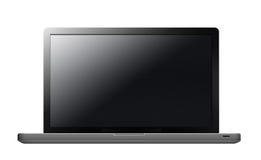 Ordenador portátil con la pantalla en blanco Fotos de archivo libres de regalías