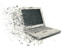 ordenador portátil 3D con efecto pixelated Foto de archivo libre de regalías