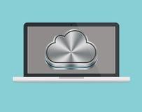Ordenador portátil del icloud del mac de Apple Fotografía de archivo