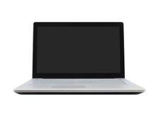 Ordenador portátil en el fondo blanco Fotos de archivo libres de regalías
