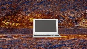 Ordenador portátil moderno innovador animación metrajes