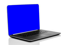 Ordenador portátil moderno liso Imagenes de archivo