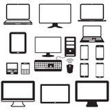 Ordenador portátil, tableta, monitor y pantalla móvil Foto de archivo