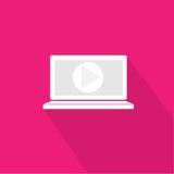 Ordenador portátil, vídeo del cuaderno Fotos de archivo libres de regalías