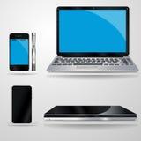 Ordenador portátil y móvil, ejemplo del vector Stock de ilustración